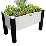 Gronomics MFEGB 24-48 BG Maintenance Free Elevated Garden Bed, 24'' x 48'' x 32''/12.5'', Black/Gray