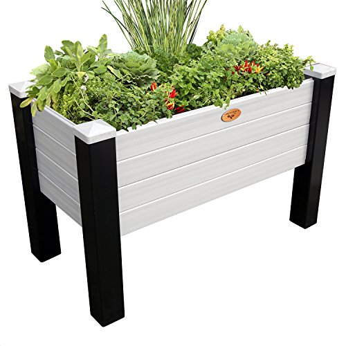 Gronomics MFEGB 24-48 BG Maintenance Free Elevated Garden Bed, 24'' x 48'' x 32''/12.5'', Black/Gray by Gronomics