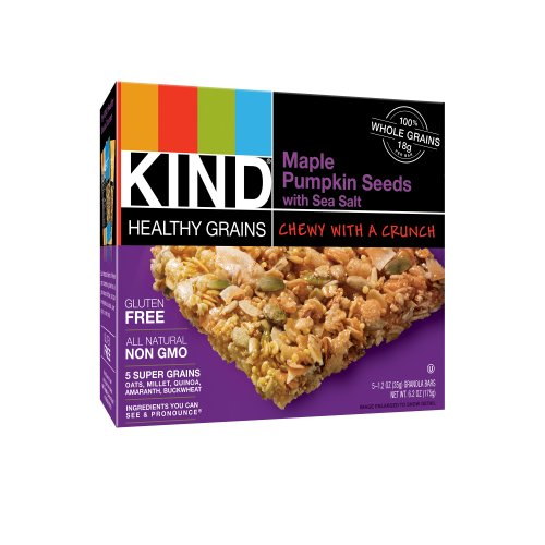 Kind Maple Pumpkin Seed Bar with Sea Salt, 5 Count (Pack of 8) For Sale
