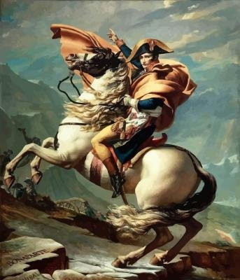 Wallmonkeys Digitally Restored Vector Painting of Napoleon Bonaparte on His Horse Peel and Stick Wall Decals WM174901 (48 in H x 41 in (Hat Napoleon)