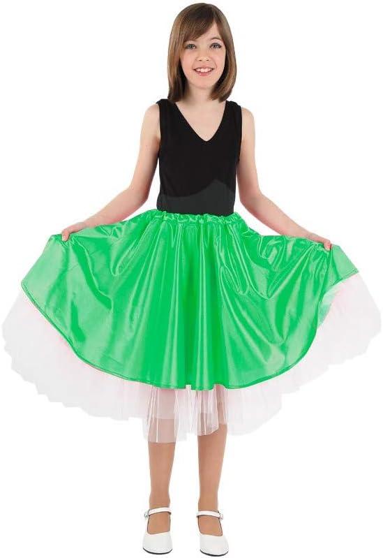 DISBACANAL Falda Olivia niña - Verde, 6 años: Amazon.es: Juguetes ...