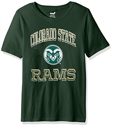NCAA Colorado State Rams Kids & Youth Boys Gridiron Hero Short Sleeve Tee, Hunter Green, Youth X-Large(18) by NCAA by Outerstuff