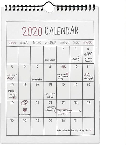 Calendario Calendarios de Escritorio Calendarios d 1PC 2020 simple ...