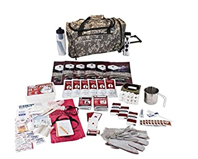 Guardian Survival Long Term Food Storage Emergency Kit, Camo Wheel Duffle Bag