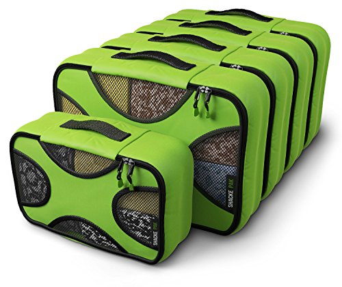- Shacke Pak - 5 Set Packing Cubes - Medium/Small - Luggage Packing Travel Organizers (Green Grass)