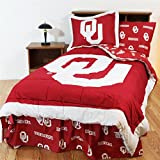 Comfy Feet OKLBBTW Oklahoma Bed in a Bag Twin - With Team Colored Sheets