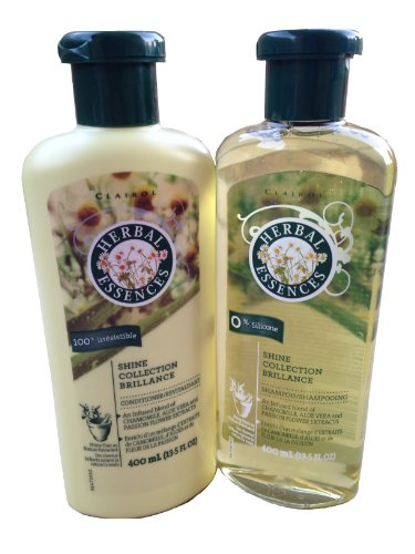 Clairol Herbal Essence Herbal Shampoo - Herbal Essences Shine Collection Brilliance Shampoo + Conditioner Pack of 13.5 fl oz each