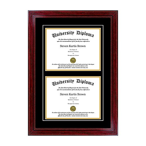 Compare Price To Double Diploma Frame Dreamboracay Com
