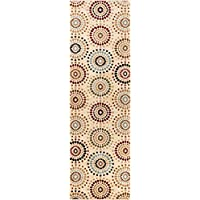 Blossom Valley Ivory Multi Floral Nature Modern Casual Rug 3x10 ( 27 x 96 Runner ) Easy to Clean Stain Fade Resistant Shed Free Abstract Retro Geometric Pattern Soft Living Dining Room Rug