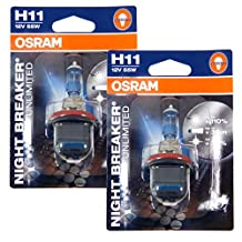 OSRAM - Night Breaker Unlimited H11 Halogen Bulbs Germany (Pair)