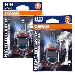 osram night breaker unlimited h11 halogen. Black Bedroom Furniture Sets. Home Design Ideas