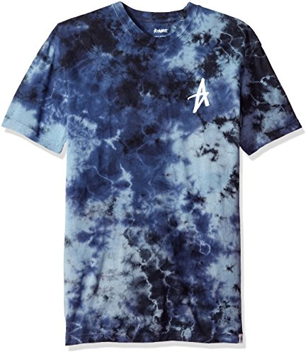 Ring Decade Single (ALTAMONT Men's Electric Clouds Decade Tie-Dye T-Shirt, Blue/Black, Small)