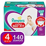 Pampers Pull On Diapers Size 4 - Cruisers 360Ëš Fit Disposable Baby Diapers with Stretchy Waistband, 140Count ONE Month Supply