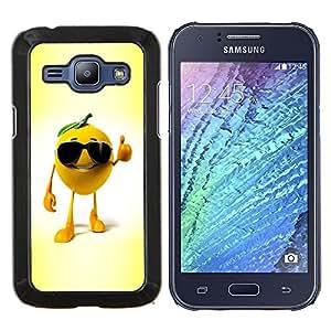 """Be-Star Único Patrón Plástico Duro Fundas Cover Cubre Hard Case Cover Para Samsung Galaxy J1 / J100 ( Anaranjado divertido"""" )"""