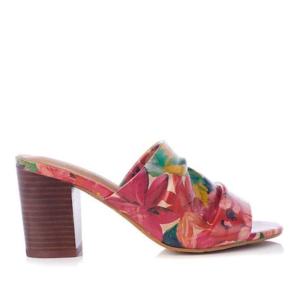 Patricia Nash Womens Poema Leather Open Toe Casual Mule Sandals