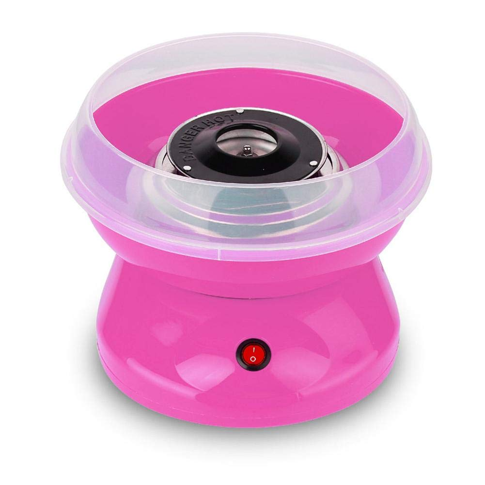 WXLAA Cotton Candy Machine Commercial Electric Hard Sugar-Free Candy Party Floss Maker Homemade Kit Pink-110V US Plug