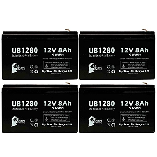 UpStart Battery 4 Pack - UB1280 Universal Sealed Lead Aci...