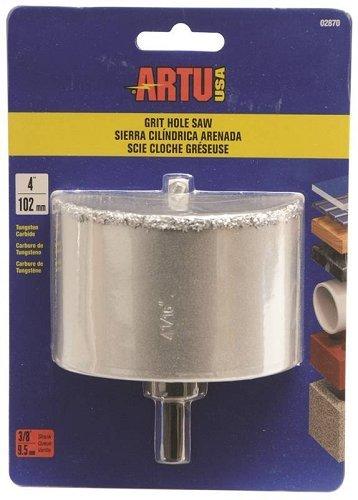 Hole Saw Tc Grit 4in W/Arb&Bit by ARTU-USA