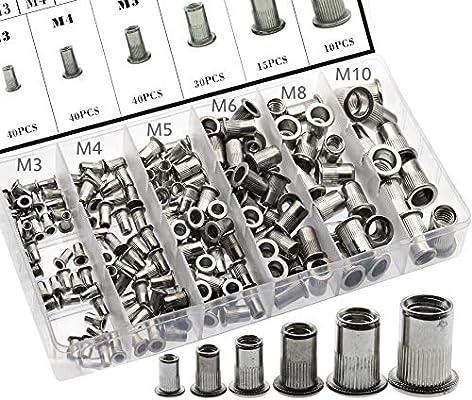 M6 Thread 304 Stainless Steel Rivet Nut Insert Nutsert 30pcs