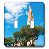 3dRose Danita Delimont - Tuscany - Bell tower, Cathedral of San Donato, Arezzo, Tuscany, Italy - Light Switch Covers - double toggle switch (lsp_249325_2)