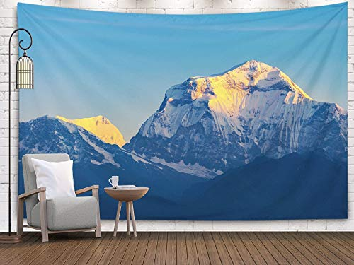 Pamime Home Decor Tapestry Rum Desert The Valley Moon Orange Sand Haze Clouds As World Heritage site National Park Outdoors Landscape Dorm Room Bedroom Living Room 80x60 Inches(200x150cm) InHouse