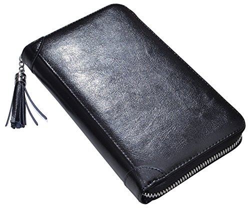 Yuhan Pretty Womens Credit Card Holder Wallet RFID Leather Small ID Card Case (60 Card Slots - Black) by Yuhan Pretty (Image #5)