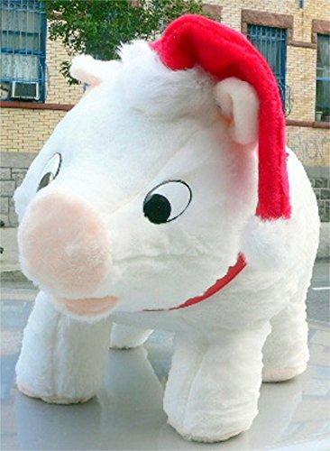 03f31428bfb59 Amazon.com  American Made Big Stuffed Pig 27 Inch Soft White Wears ...