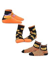 TeeHee Halloween Kids Cotton Fun Crew Socks 3-Pair Pack