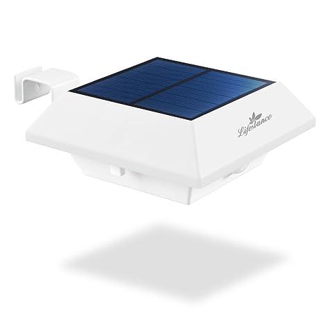 Lámparas Solares,Lifestance Lámpara Energía Solar con Sensor Movimiento 2 Modos Dim y el brillante