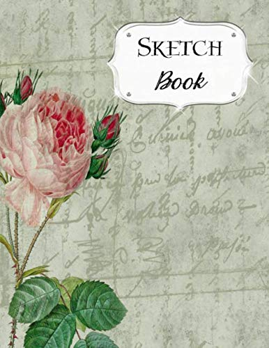 Sketch Book: Flower | Sketchbook | Scetchpad for Drawing or Doodling | Notebook Pad for Creative Artists | Green Pink Single Flower