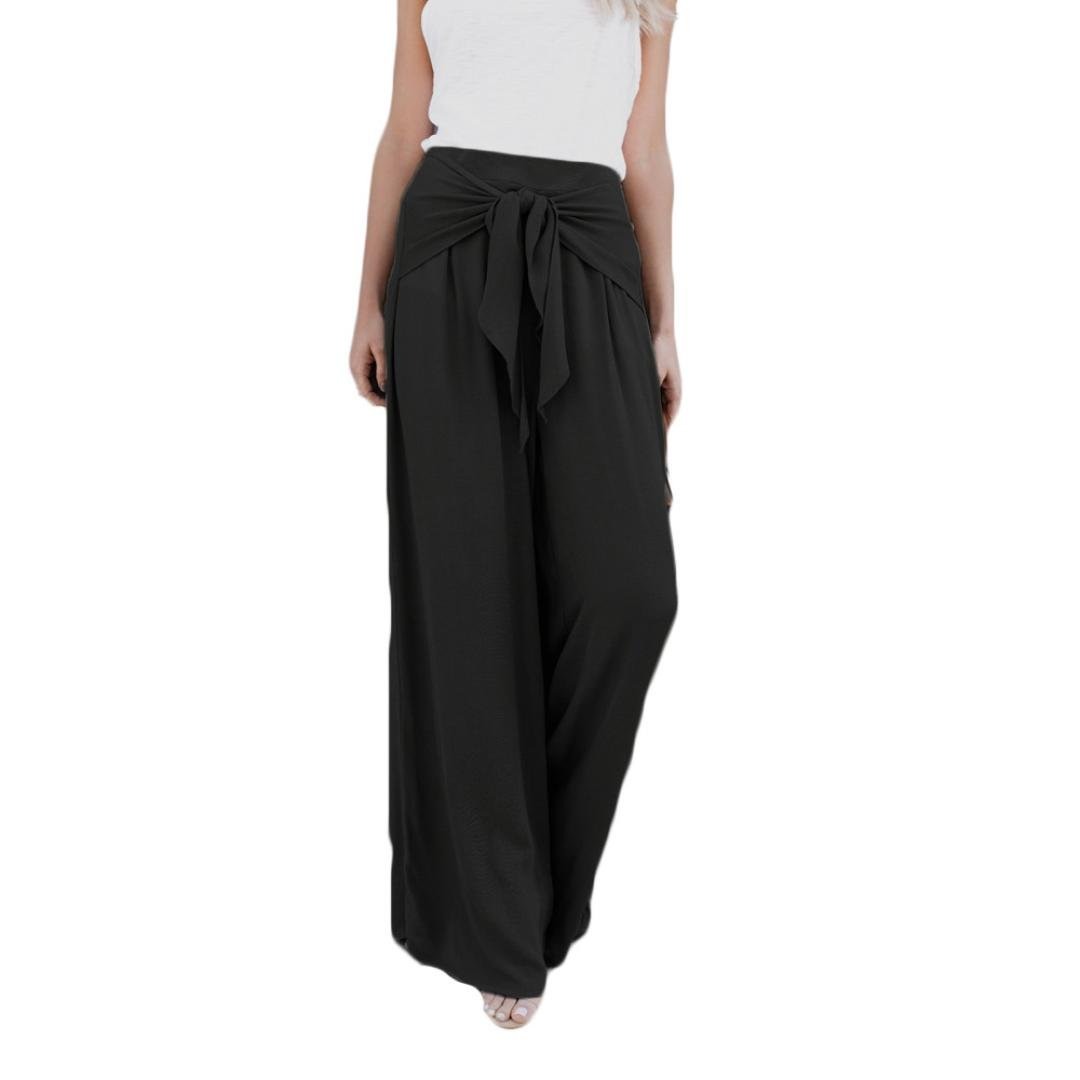 1ec21b1728aed Boho high waisted wide leg elastic wasitband stretch bell bottom pants for  women