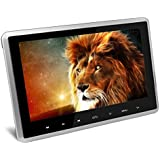AUTOWINGS 10.1 inch Car Headrest DVD Player with HD 1024x600 Screen Touch Key