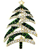 Charter Club Gold-Tone Green and White Crystal Christmas Tree Pin