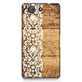 Hard Plastic Case for Sony Z3 Compact, CasesByLorraine Vintage Floral Flower Lace Pattern PC Case Plastic Cover for Sony Xperia Z3 Compact (G12)