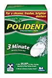 Polident 3 Minute Triple Mint Freshness Antibacterial Denture Cleanser Tablets - 84 CT