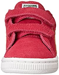 PUMA Suede 2 Straps Classic Sneaker  , Beetroot Purple/Peach Cobbler, 10 M US Toddler