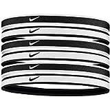 Nike Swoosh Sport Headbands 6pk (Black/White)
