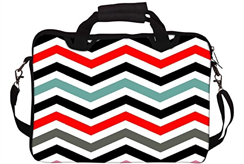 Snoogg Frequency mehrfarbig bedruckt Notebook-Tasche mit Schultergurt 15 bis 15,6 Zoll