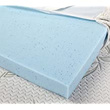 Beauty Sleep Solution 100% 3 Inch Gel Infused Memory Foam Mattress Topper - With Luxourius Cool To Touch Removable Bamboo Cover - Ultimate Comfort With Good Support (Twin)