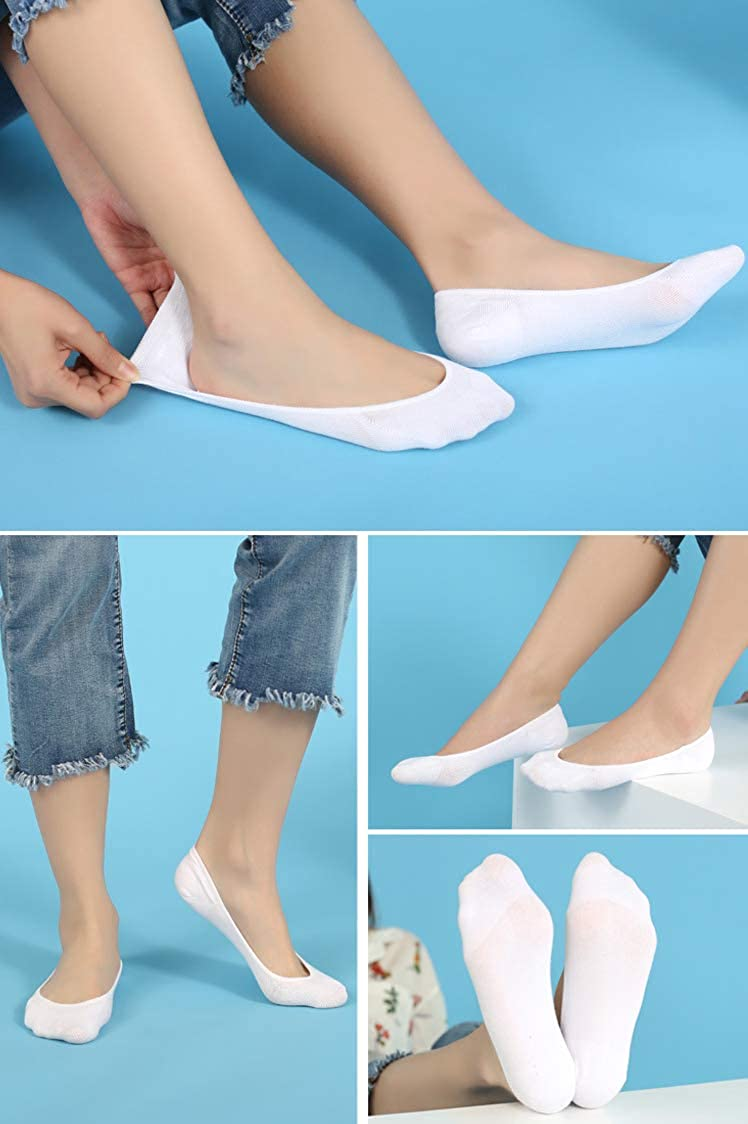 YOUNGSOUL 6 Pairs Girls Invisible No Show Socks Low Cut Liner Sock
