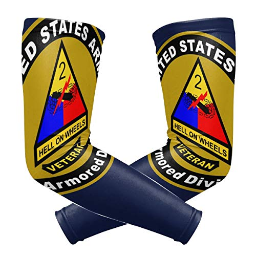 United States Army Veteran 2nd Armored Division Outdoor Travel Arm Warmer Long Sleeves Glove