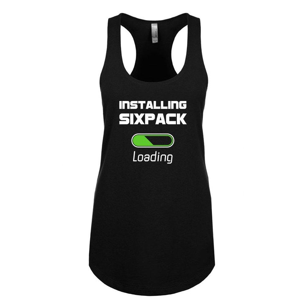 Mad Over Shirts Installing Sixpack Loading Unisex Premium Racerback Tank top