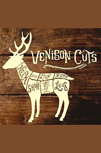 Deer or Venison Cuts Butcher Shop Diagram Poster 12x18 inch