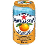 San Pellegrino Sparkling Fruit Beverages, Aranciata/Orange, 330ml Cans (Pack of 24)