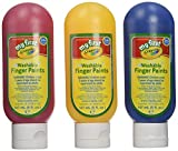 My First Crayola/Mini Kids 81-8108 3 Washable Finger Paints, multicoloured