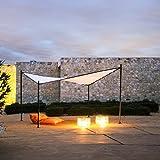 Abba Patio Outdoor Gazebo Steel Square Butterfly Gazebo Soft Top Canopy Carport, 12 x 12 ft, Beige