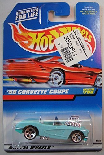 (HOT WHEELS BLUE '58 CORVETTE COUPE #780 5)