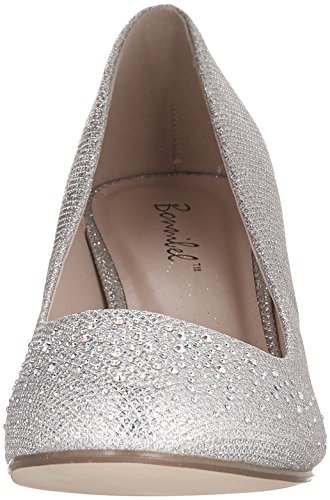 Toe Bonnibel Dress Pumps Glitter On Wonda 1 Silver Low Slip Round Womens Heel rTTawIq