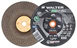 Walter 15L863 FLEXCUT Mill ScaleFlexible Grinding Wheel [Pack of 25] - A-36-FLEX Grit, 6 in. Abrasive Wheel with Arbor Hole. Angle and Die Grinder Wheels
