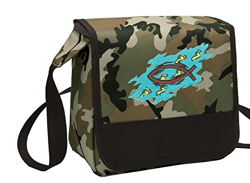 Camo Christian Lunch Bag Shoulder Christian Theme Lunch Boxes by Broad Bay